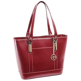 97716, Leather Ladies' Tote With Tablet Pocket