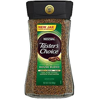 Nescafe Taster's Choice Instant Coffee Decaf House Blend 2 Canister Pack