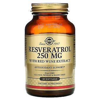 Solgar, Resveratrol, 250 mg, 60 Softgels