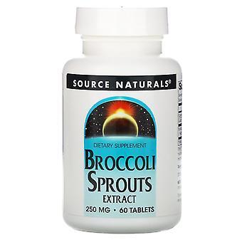 Fuente Naturales, Extracto de brotes de brócoli, 250 mg, 60 tabletas