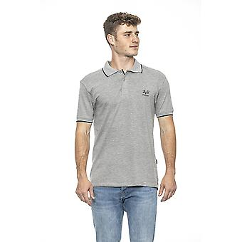 Grigio grey essential muscle fit polo shirt