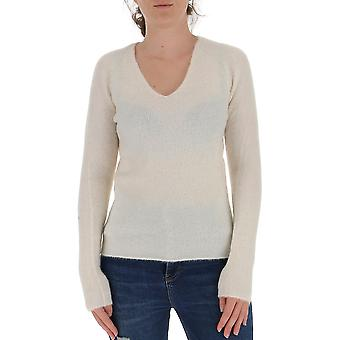 Fabiana Filippi Mad220w087d190085 Women's White Wool Sweater