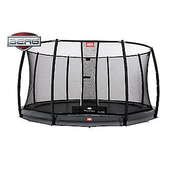 BERG InGround Champion 380 12.5ft Trampoline+ Safety Net Deluxe Grey