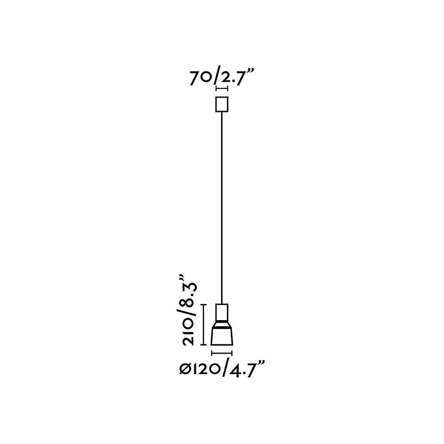 Faro Kombo - Dome Suspension Pendant Beige 12cm 1x E27