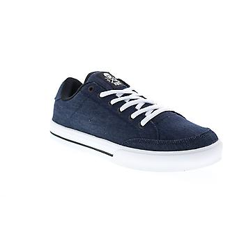 Circa AL50  Mens Blue Canvas Lace Up Skate Inspired Sneakers Shoes