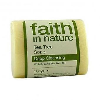 Faith In Nature - Tea Tree Pure Veg Soap 100g