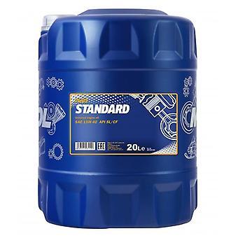 Huile de moteur minéral universel Mannol Standard 20L 15w40 API CF/SL