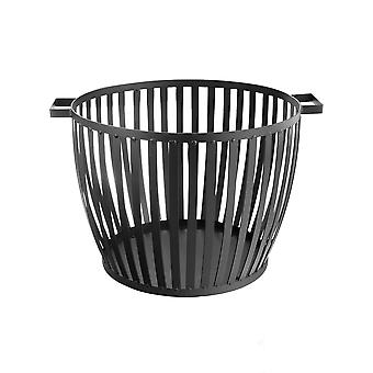 Cast Iron Firewood Log Basket - 53cm Indoor / Outdoor Log Store