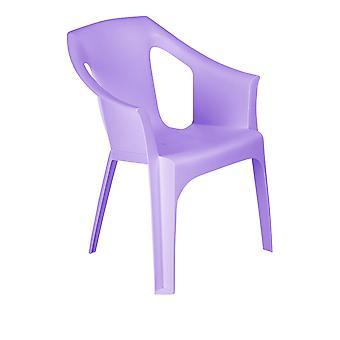 Resol 2 Piece Cool Plastic Garden Chair Set - Stackable UV Resistant Outdoor Patio Armchair - Purple