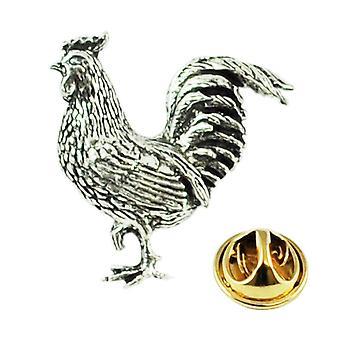 Solmiot Planet Cockerel Rooster Kana Englanti Pewter Lapel Pin Merkki