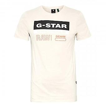 G-Star Raw Originals Tarra Logo T-paita Beige D18261