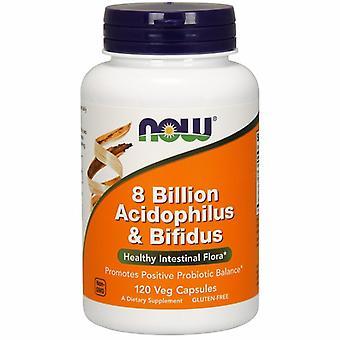 Nyt Elintarvikkeet 8 Miljardia Acidophilus & Bifidus, 120 Caps