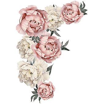 71.5x102cm stor rosa peon blomst, vegg klistremerker - hjem innredning