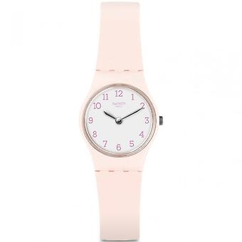Swatch Lp150 Pinkbelle White & Pink Silicone Watch