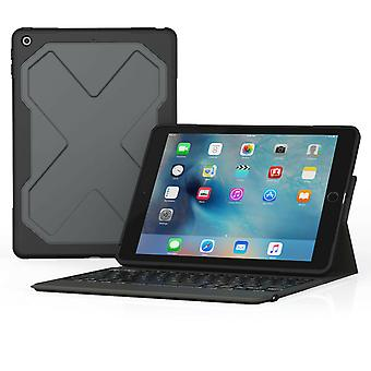 ZAGG Rugged Messenger Keyboard Filo Case for 9.7-inch iPad 2017 and 2018, Black