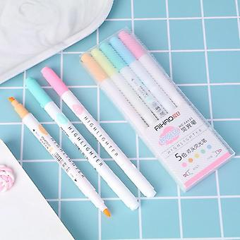 Eye Color Dual Bold Fine Tip Milkliner, Colorful Candy Color Highlighters