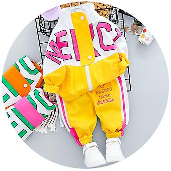 Autumn Kid Clothing Casual Tracksuit Long Sleeve Letter Zipper Sets Infant
