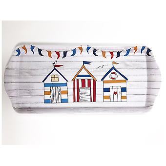 Home Living Long Drinks Tray Summer Beach Huts HH2245