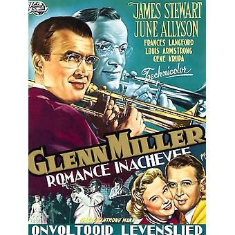 The Glenn Miller Story Topl-R James Stewart As Glenn Miller Glenn Miller Bottom L-R June Allyson James Stewart On Belgian Poster Art 1954 Movie Poster Masterprint