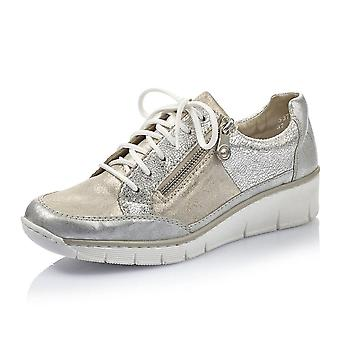 Rieker 53716-80 Doris Smart Casual Lace-up Trainers In Ice