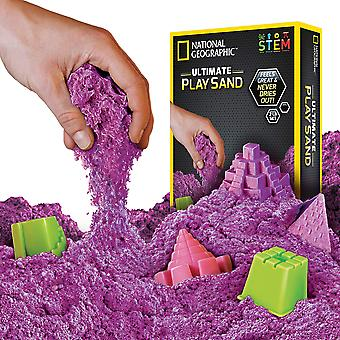 National geographic jm02049 play 900 g of sand with castle moulds and tray, purple, grams 900 grams