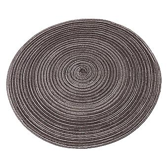 Round Placemats Heat-Resistant Stain Resistant Table Mats 38x0.2cm Black