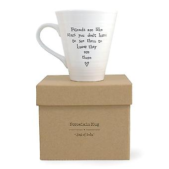 East of India Porcelain Mug Friends Are Like Star with Gift Box
