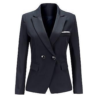YANGFAN Women Pure Color Blazer