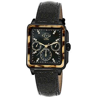GV2 Bari Tortoise Women&s Black Case Black Dial Black Strap Watch