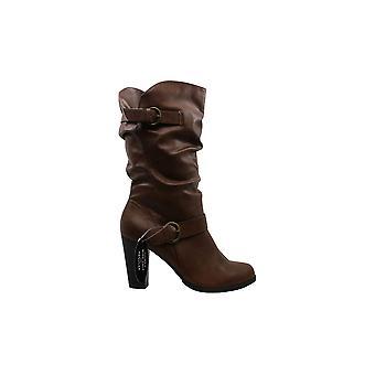 Style & Co. Womens Sachip Läder Sluten tå Mid-Kalv Mode Boots