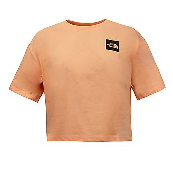 The North Face Womens Cropped Fine T-Shirt Orange Top NF0A4SY9N8P1