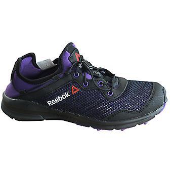 ريبوك تريل واحد الاندفاع تبديل حتى الأسود الأرجواني النساء المدربين الأحذية M44998 B95C