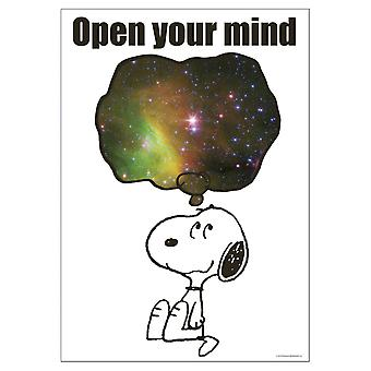 "Peanuts Nasa Open Your Mind Poster, 13"" X 19"""