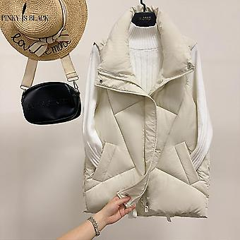 Women Winter Vests Cotton Padded Jacket Sleeveless Waistcoat Vest