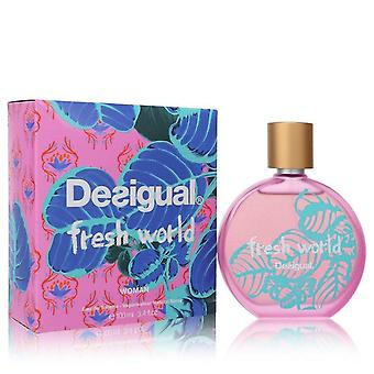 Desigual Fresh World Eau De Toilette Spray By Desigual 3.4 oz Eau De Toilette Spray