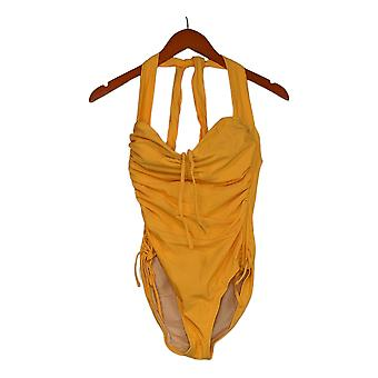 Sun Kitten Swimwear Swimsuit The Housewife One-Piece Yellow A379964