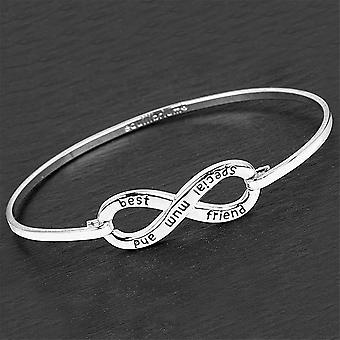 Equilibrium Silver Plated Infinity Bangle - Mum