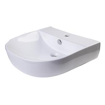"Alfi Brand Ab110 20"" Blanco D-Bowl Porcelana Pared Mounted Bath Sink"