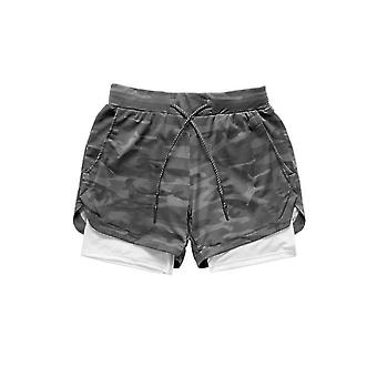 2 In 1 Mannen Running Shorts, Plus Size 3xl Training Jogging Short Pants Joggers