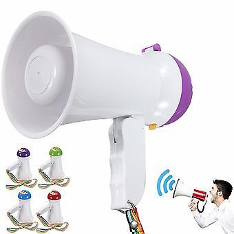 Portable Foldable Handheld Megaphone Siren Loudspeaker Voice Amplifier Recorder