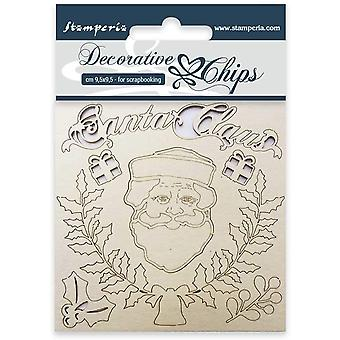 Stamperia Decorative Chips Santa Claus
