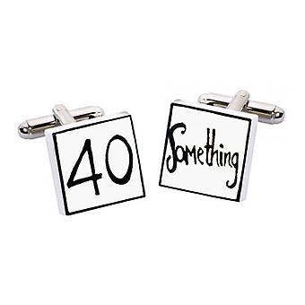 40 Something Cufflinks par Sonia Spencer