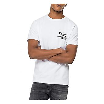 Replay Jeans Replay Authentic Blue Jeans T-shirt White