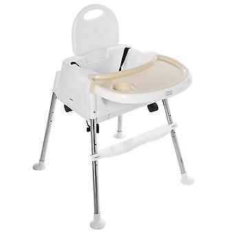 Mesa de jantar estável de cadeira de bebê portátil multifuncional dobrável ajustável
