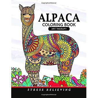 Livre de coloriage d'alpaga : Livre de coloriage d'adultes animaux