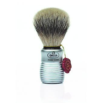 אומגה טהור גירית שיער גילוח מברשת #465 מוברש אלומיניום סגנון ידית (m)