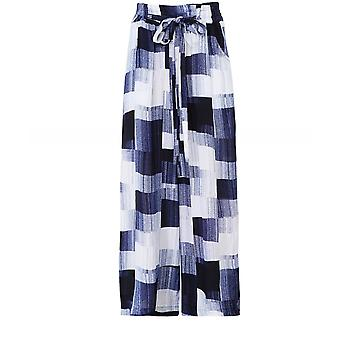 Crea Concept Abstract Print Wide Leg Trousers