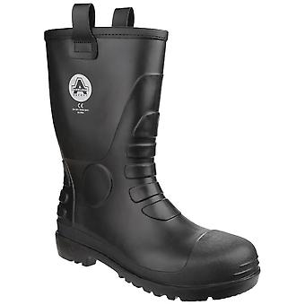 Amblers fs90 waterproof pvc safety rigger boots mens