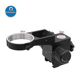 76Mm diameter stereo zoom microscope adjustable focusing bracket focusing holder trinocular microscope binocular microscope arms