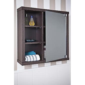 Intradisa 8910 - Badezimmerschrank mit 1 seitlichen Spiegeltr, wengefarben